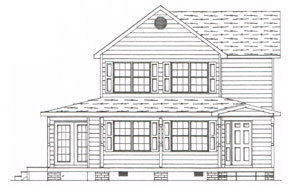 a plan for a custom two story home