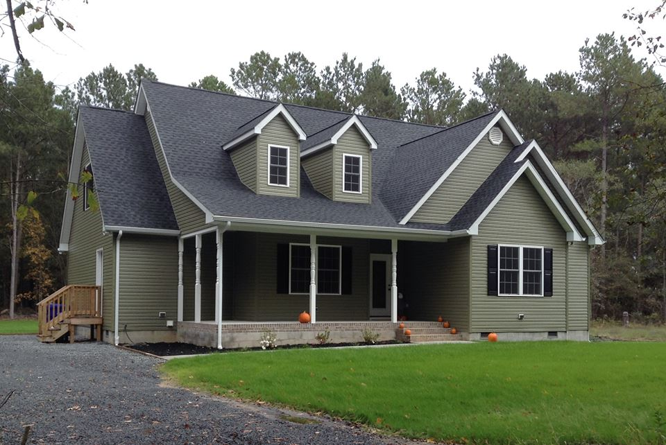 Black roof color houses pictures joy studio design for Green siding house